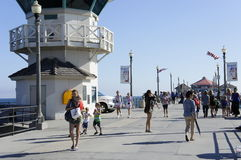 Huntington plaża 4th Lipa świętowanie Obrazy Royalty Free