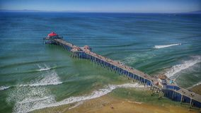 Huntington plaży molo zdjęcia stock