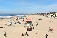 Huntington plaży linia brzegowa Obrazy Stock