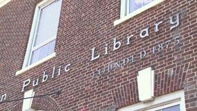 Huntington Public Library (1 of 2) stock video
