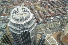 111 Huntington Turm in der Stadt von Boston - BOSTON, MASSACHUSETTS - 3. April 2017 Lizenzfreies Stockfoto