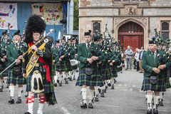 Huntly Pipe marching band royalty free stock image