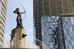 Huntress Diana Fountain (Fuente de la Diana Cazadora) in Mexico DF, Mexico Stock Image