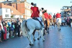 Huntsman έτοιμο για το κυνήγι με το πλήθος Στοκ Φωτογραφία