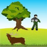 Huntsman on deer Stock Image