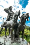 `Huntsman and Dogs` statue at Royal Botanical Garden, NSW. royalty free stock images