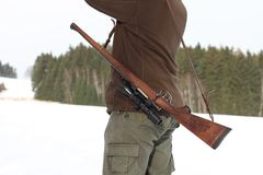 Huntsman with riffle Royalty Free Stock Photo