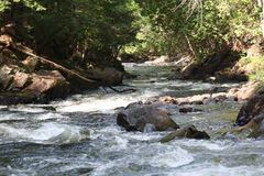 Huntsville, automnes de ruisseaux de Canada d'Ontario Images libres de droits