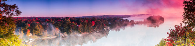 Huntsville-nascer do sol da vigia do ` s do leão Foto de Stock Royalty Free