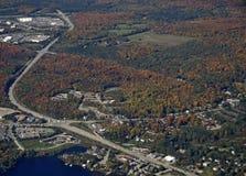 Huntsville Ontario, von der Luft Lizenzfreie Stockfotos