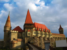 Hunyad Castle. The Hunyad castle also known as Corvinilor castle, is a Gothic-Renaissance castle in Hunedoara (Transylvania), Romania. Tourists are told that it Stock Photos