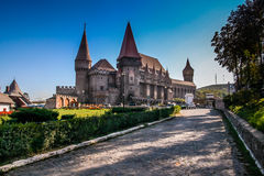 Hunyad Castle. Called also the Korwin castle or the Dracula castle, because of links and legends relating to Vlad III of Wallachia (commonly known as Vlad the Royalty Free Stock Image