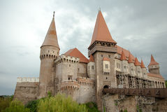Hunyad Castle. Medieval castle in Transylvania. Vajdahunyad Royalty Free Stock Photo