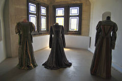 Hunyadi Castle - dresses Stock Image