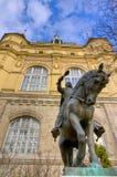 Hunyadi statua Janos, Vajdahunyad kasztel, Budapest Zdjęcie Royalty Free