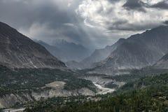 Hunza谷,巴基斯坦 库存图片