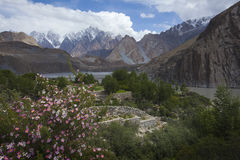Hunza dal, ställe i Gilgit Pakistan Royaltyfri Fotografi