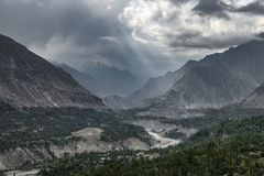 Hunza dolina, Pakistan Obraz Stock