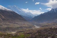 Hunza dolina w wiośnie z pięknym okwitnięciem, Gilgit Baltistan, Obrazy Royalty Free