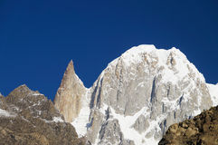 Hunza Peak and Lady Finger in Northern Pakistan Royalty Free Stock Photo