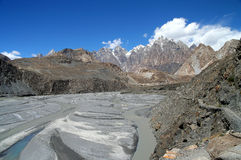Hunza river stock photo