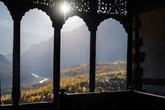 Hunza Valley in autumn royalty free stock image