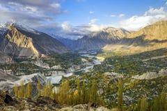 Hunza Valley in Pakistan stock photo