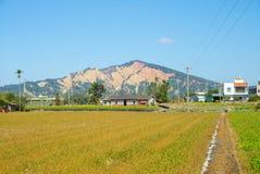Huo yan Shan i Miaoli County, Taiwan arkivbild