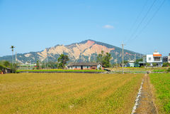 Huo yan Shan in Miaoli-provincie, Taiwan Stock Fotografie