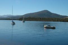 Huon River boats. Franklin, Tasmania, Australia Stock Photo