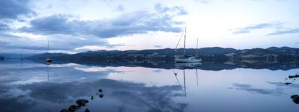 Huon River Tasmania Panorama photographie stock