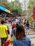 Huong pagodfestival Min Duc, Hanoi, Vietnam mars 2, 2019 royaltyfria foton