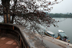 Huong river view from Thien Mu pagoda Royalty Free Stock Photography