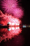 Huoshan Pi Yang Lake fireworks Stock Photos