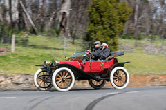 1913 Hupmobile 20 Runabout. Adelaide, Australia - September 25, 2016: Vintage 1913 Hupmobile 20 Runabout driving on country roads near the town of Birdwood Stock Photos