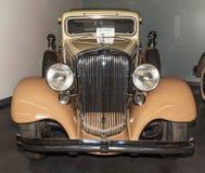 1933 Hupmobile. Series I-326 4 door sedan.   On display at the American Car Museum, Tacoma, Washington. 9 May, 2015 Royalty Free Stock Images