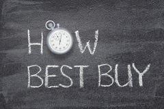 Hur Best Buy klocka arkivfoton