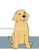 Hur hunden ser mig stock illustrationer