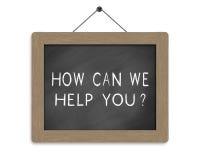 Hur kunna, hjälper vi dig Arkivfoton