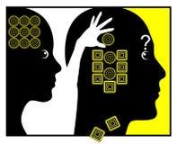 Hur kvinnor ändrar män royaltyfri illustrationer