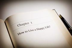 Hur man bor ett lyckligt liv arkivbild