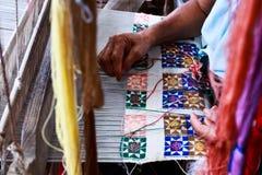 Thailändsk silk. Arkivbild