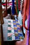 Thailändsk silk. Royaltyfri Fotografi