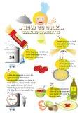 Hur man lagar mat spagetti Arkivbild