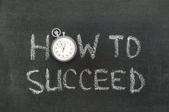 Hur man lyckas klockan Arkivfoto