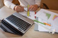 Hur man skriver affärsplan Lyckade affärsfaktorer royaltyfria bilder