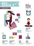 Hur man sover bättre Arkivbilder