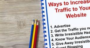 Hur man tilldrar trafik till din webbplats royaltyfria bilder