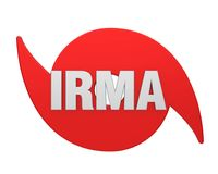 Huracán Irma Symbol Isolated stock de ilustración