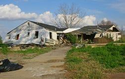 Huracán Katrina Damange en la novena sala Fotos de archivo libres de regalías